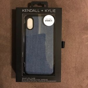 Kendall + Kylie Denim iPhone X Cell Phone Case